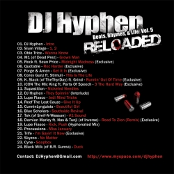 DJ Hyphen Beats, Rhymes & Life Vol. 5, Reloaded Back Cover