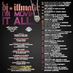 DJ Illmatic I'm Movin It All 2008 Back Cover