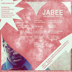 Jabee The Valentine's Day EP Back Cover