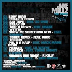 Jae Millz The Virgo Mixtape Back Cover