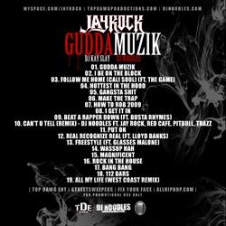 DJ Noodles, Kay Slay & Jay Rock Gudda Muzik Back Cover