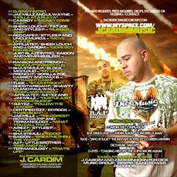 J. Cardim Your Favorite Rapper's Favorite Producer Back Cover