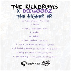 The Kickdrums & Dee Goodz The Higher EP Back Cover