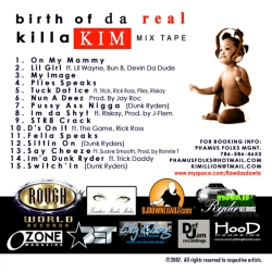 Kimillion Birth Of Da Real Killa Kim Mixtape Back Cover