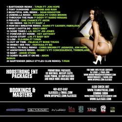 DJ Leggs Sex In The Summer Vol. 1 Back Cover