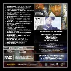 DJ Leggs Streetz Is Watchin Vol. 4 Back Cover