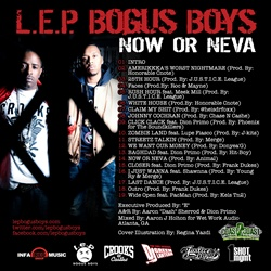 DJ Green Lantern & L.E.P. Bogus Boys Now Or Neva Back Cover