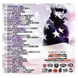 DJ L-Gee America's Favorite Singer Part 1 Back Cover