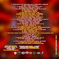 DJ L-Gee Best of 2010 Back Cover