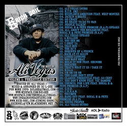 DJ L-Gee The Best Of Ali Vegas Vol. 1 Freestyle Edition Back Cover