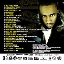 DJ L-Gee The Best Of Ali Vegas Vol. 2 Back Cover