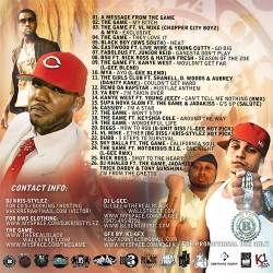 DJ Kris-Stylez, The Game & DJ L-Gee The West Coast Savior Part 2 Back Cover