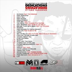Lil Wayne Dedication 5 Back Cover