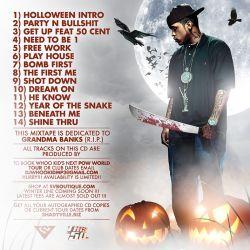 DJ Whoo Kid & Lloyd Banks Halloween Havoc Back Cover