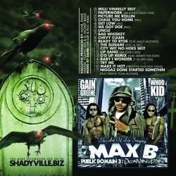 DJ Whoo Kid & Max B Public Domain 3 Back Cover