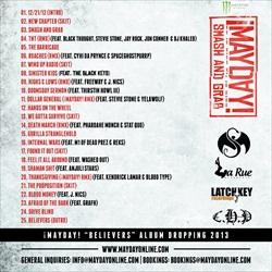 Mayday Smash And Grab Back Cover