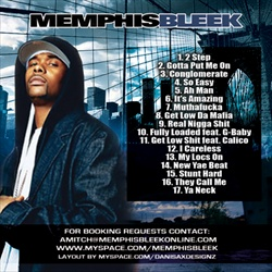 Memphis Bleek Feed The Streets Back Cover