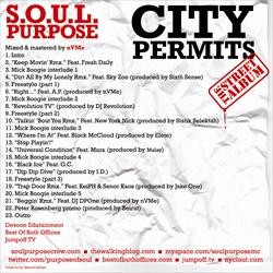 Mick Boogie & Terry Urban S.O.U.L. Purpose 'City Permits' Back Cover