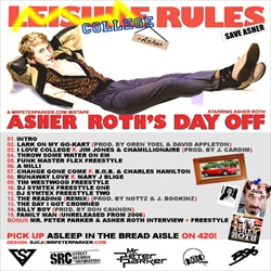 Mr. Peter Parker Asher Roth's Day Off Back Cover