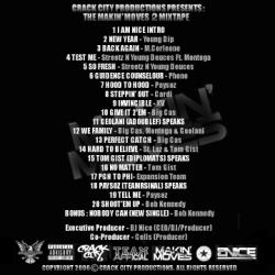DJ Nice Makin' Moves 2 Back Cover