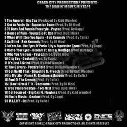 DJ Nice The Makin' Moves Mixtape Back Cover