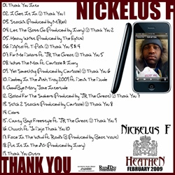Nickelus F Thank You Back Cover