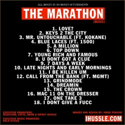 Nipsey Hu$$le The Marathon Back Cover
