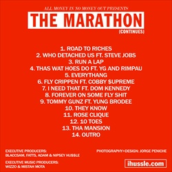 Nipsey Hu$$le The Marathon Continues Back Cover