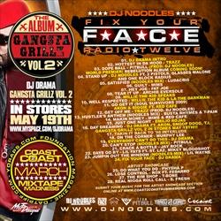 DJ Noodles Fix Your Face Radio Vol. 12 Back Cover