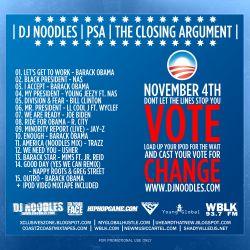 DJ Noodles The Closing Argument Back Cover