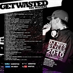 DJ NVS Styles 2010 Get Wasted Back Cover
