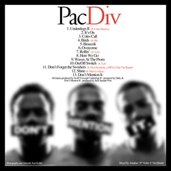 Pac Div Don't Mention It Back Cover