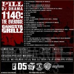 Pill & DJ Drama 1140:The Overdose Back Cover
