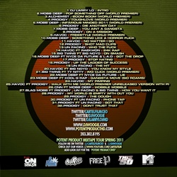 DJ Rated R, DJ Woogie & DJ Larry Lo Infamous Minded:Free P Back Cover
