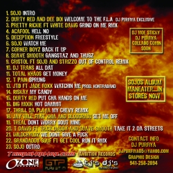 DJ Purfiya Stop Sleepin Vol 2 Welcome To The F.L.A. Back Cover