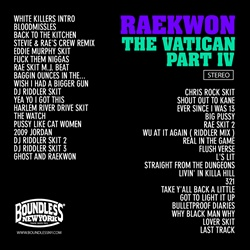 Raekwon The Vatican IV Back Cover