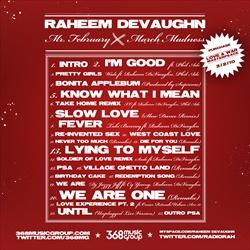 Raheem DeVaughn Mr. February A.K.A. March Madness Back Cover