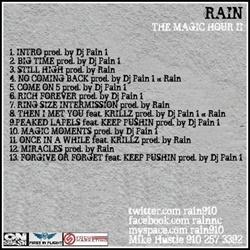 Rain The Magic Hour 2 Back Cover