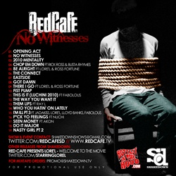 Red Cafe No Witnesses Back Cover