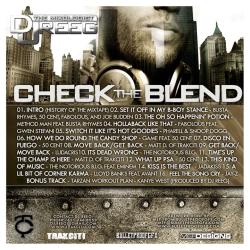 DJ Reeg Check The Blend Back Cover