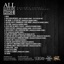 Reks & Hazardis Soundz All Eyes on Reks Back Cover