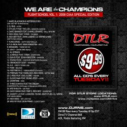 DJ RNS We Are The Champions Back Cover
