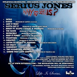 Serius Jones Why So Serius? Back Cover