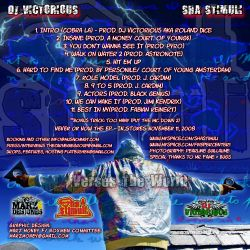 DJ Victorious & Sha Stimuli Verses The World Back Cover
