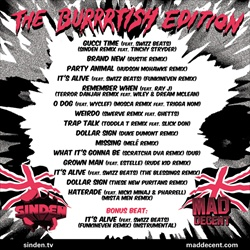 Sinden & Mad Decent Free Gucci 2:The Burrtish Edition Back Cover