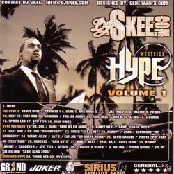 DJ Skee Westside Hype Vol. 1 Back Cover
