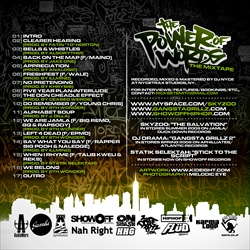Skyzoo, DJ Drama & Statik Selektah The Power Of Words Back Cover