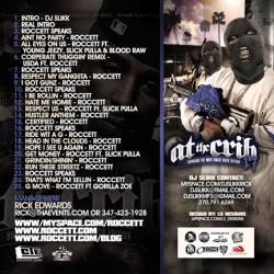 DJ Slikk & Roccett At The Crib 17 Back Cover