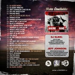 DJ Slikk & Jeff Johnson At The Crib Vol. 25 Back Cover