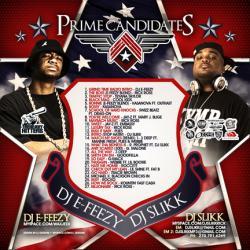 DJ E-Feezy & DJ Slikk Prime Candidates Back Cover